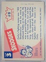1959 Fleer Three Stooges #9 K.O. Stradivarius - White Back