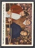 1959 Fleer Three Stooges #9 K.O. Stradivarius - Front