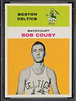 1961-1962 Fleer #10 Bob Cousy Boston Celtics - Front