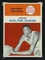 1961-1962 Fleer #11 Walter Dukes Detroit Pistons - Front