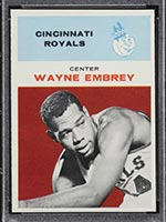 1961-1962 Fleer #12 Wayne Embrey Cincinnati Royals - Front