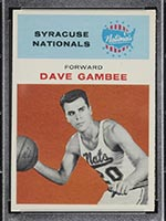 1961-1962 Fleer #13 Dave Gambee Syracuse Nationals - Front