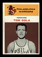 1961-1962 Fleer #14 Tom Gola Philadelphia Warriors - Front