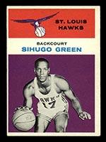 1961-1962 Fleer #15 Sihugo Green St. Louis Hawks - Front