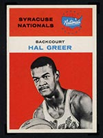 1961-1962 Fleer #16 Hal Greer Syracuse Nationals - Front