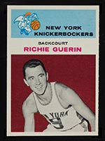 1961-1962 Fleer #17 Richie Guerin New York Knicks - Front