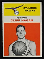 1961-1962 Fleer #18 Cliff Hagan St. Louis Hawks - Front