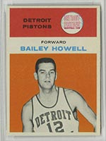1961-1962 Fleer #20 Bailey Howell Detroit Pistons - Front