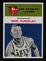 1961-1962 Fleer #21 Rod Hundley Los Angeles Lakers - Front