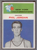 1961-1962 Fleer #24 Phil Jordan New York Knicks - Front