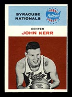 1961-1962 Fleer #25 John Kerr Syracuse Nationals - Front