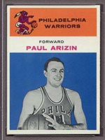 1961-1962 Fleer #2 Paul Arizin Philadelphia Warriors - Front