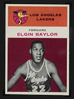 1961-1962 Fleer #3 Elgin Baylor Los Angeles Lakers - Front