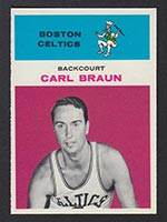 1961-1962 Fleer #7 Carl Braun Boston Celtics - Front