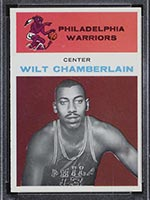 1961-1962 Fleer #8 Wilt Chamberlain Philadelphia Warriors - Front