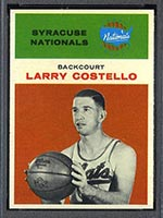 1961-1962 Fleer #9 Larry Costello Syracuse Nationals - Front