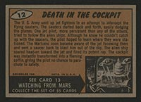 1962 Topps Mars Attacks #12 Death in the Cockpit - Back