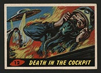 1962 Topps Mars Attacks #12 Death in the Cockpit - Front