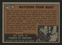 1962 Topps Mars Attacks #13 Watching from Mars - Back
