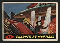 1962 Topps Mars Attacks #14 Charred by Martians - Front