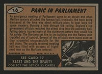 1962 Topps Mars Attacks #16 Panic in Parliament - Back