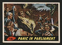 1962 Topps Mars Attacks #16 Panic in Parliament - Front
