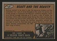 1962 Topps Mars Attacks #17 Beast and the Beauty - Back