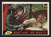 1962 Topps Mars Attacks #17 Beast and the Beauty - Front