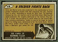 1962 Topps Mars Attacks #18 A Soldier Fights Back - Back