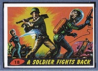1962 Topps Mars Attacks #18 A Soldier Fights Back - Front