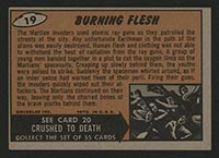 1962 Topps Mars Attacks #19 Burning Flesh - Back