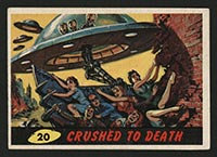 1962 Topps Mars Attacks #20 Crushed to Death - Front
