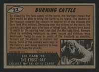 1962 Topps Mars Attacks #22 Burning Cattle - Back