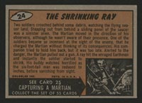 1962 Topps Mars Attacks #24 The Shrinking Ray - Back