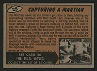 1962 Topps Mars Attacks #25 Capturing a Martian - Back