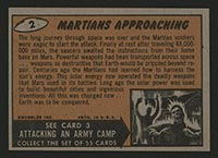 1962 Topps Mars Attacks #2 Martians Approaching - Back