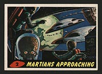1962 Topps Mars Attacks #2 Martians Approaching - Front