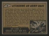 1962 Topps Mars Attacks #3 Attacking an Army Base - Back