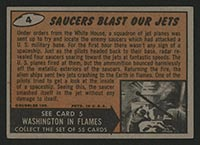 1962 Topps Mars Attacks #4 Saucers Blast Our Jets - Back