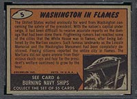 1962 Topps Mars Attacks #5 Washington in Flames - Back