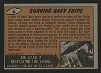 1962 Topps Mars Attacks #6 Burning Navy Ships - Back