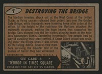 1962 Topps Mars Attacks #7 Destroying the Bridge - Back