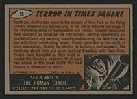 1962 Topps Mars Attacks #8 Terror in Times Square - Back