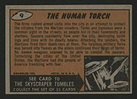 1962 Topps Mars Attacks #9 The Human Torch - Back