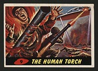1962 Topps Mars Attacks #9 The Human Torch - Front