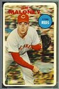 1968 Topps 3-D Jim Maloney (No Dugout) Cincinnati Reds