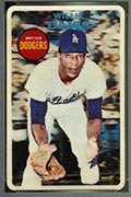 1968 Topps 3-D Willie Davis Los Angeles Dodgers