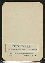 1969 Topps Supers #11 Pete Ward Chicago White Sox - Back