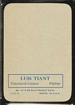 1969 Topps Supers #13 Luis Tiant Cleveland Indians - Back