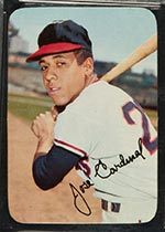 1969 Topps Supers #15 Jose Cardenal Cleveland Indians - Front